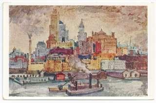 vintage New York New York City special set Art Scenes Albert Sallak no