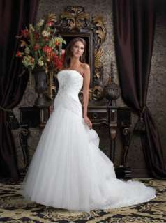 Custom made Amazing Wedding/prom Dress/Gown All Sizes size 6 8 10 12