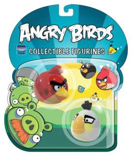Angry Birds Figurine 2 Pack Red And White Bird *New*