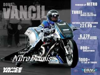 VANCIL 1:10 Milestone DRAG BIKE Top Fuel Motorcycle VANCE and HINES