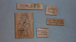 JRL Design Co 5pc Rubber Stamp Set S454 The Stamp Lady