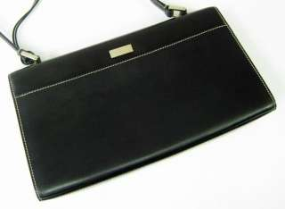 AUTHENTIC GUCCI BLACK LEATHER PURSE+MIRROR/DUST BAG NR