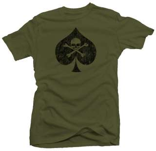 Death Spade Skull Military Ace Army Retro New T shirt