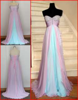 Amazing Bridesmaid/Quinceanera/Wedding Dress Prom Gown Stock size6 8