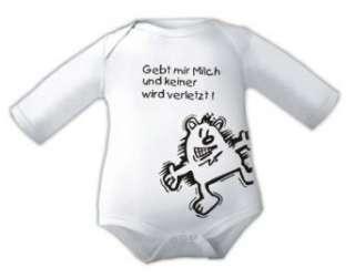 Babybody mit Druck GEBT MIR MILCH UND KEINER WIRD VERLETZT / kurz und