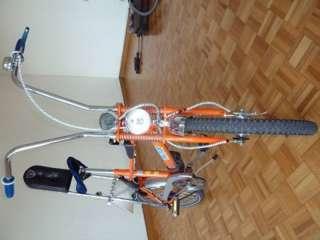 Bonanza Fahrrad orange/blau trip trop oldschool aufgepimpt in Berlin