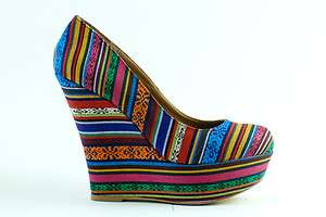 Steve Madden   Pammyy Wedge Pump, Bright Multi
