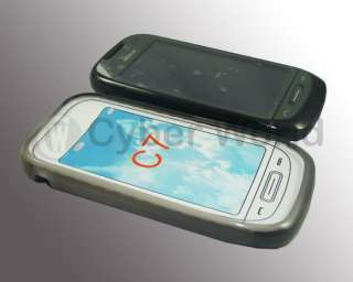 NEW SMOKED BLACK TPU GEL CASE COVER FOR NOKIA C7 UK