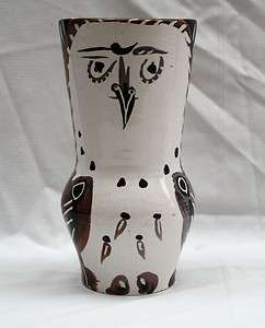 PABLO PICASSO VASE FROM ESTATE OF TONY CURTIS 1952
