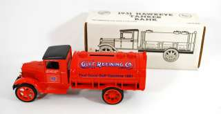 Collectible   1931 Hawkeye Tanker Truck Bank   ERTL 1990   Made in USA