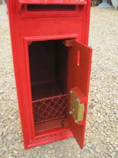 Royal Mail Wall Mounted Cast Iron Post Box Edward VII,edward,cast iron