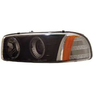 Anzo USA 111002 GMC Sierra/Yukon Projector with Halo Black Headlight