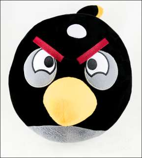 BIG 12 Angry Birds black plush doll toy * UK SELLER *