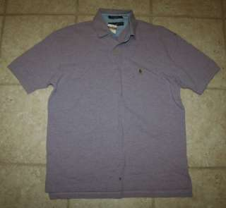 NWT Tommy Hilfiger Mens Large Basic Purple Polo Shirt
