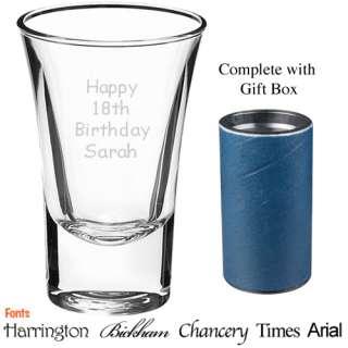 Shot Glass Personalised 18th Birthday Vodka + Gift Box