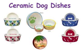 PAWS & BONES Deluxe Ceramic Dog Dish Collection   NEW