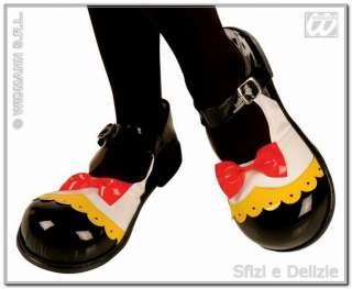 Scarpe clown donna nere con papillon Minnie