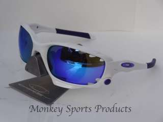 Oakley Racing Jacket 2012   Polished White / Violet Iridium