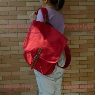 Canvas Rucksack Backpack Bag Retro Shoulder Faux Leather Travel School