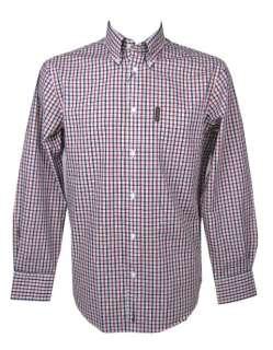 Mens Ben Sherman Shirt House Check L/S Red/White/Blue