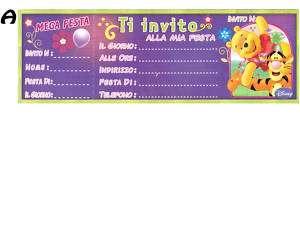 Inviti compleanno Disney Winnie e Tigro x15