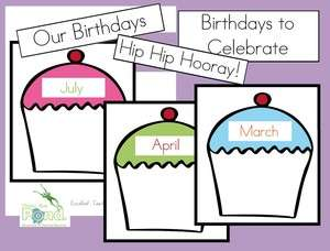 Classroom Birthday Poster Chart   Teaching Resource PDF