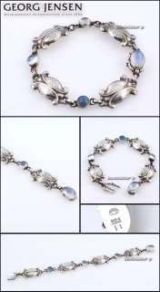 Georg Jensen Silver Bracelet # 11   MOONLIGHT BLOSSOM