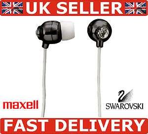 MAXELL SWAROVSKI CRYSTAL EAR BUDZ IN EAR BUDS 3.5mm IPOD IPHONE