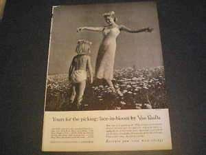 1957 Van Raalte Ladys Slip Ad Little Girl in Underwear