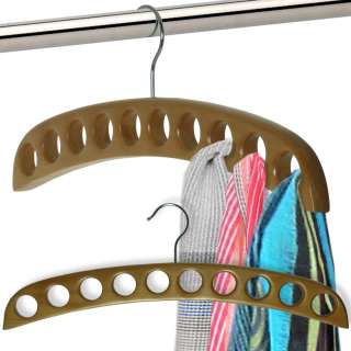PREMIUM WOODEN TIE RACK COAT HANGER HOOK WOOD ORGANISER