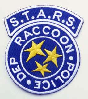 RESIDENT EVIL S.T.A.R.S. Raccoon Police Patch BLUE