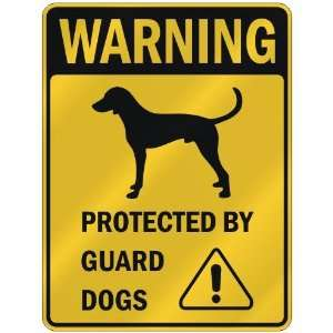 WARNING  ENGLISH FOXHOUND PROTECTED BY GUARD DOGS  PARKING SIGN DOG