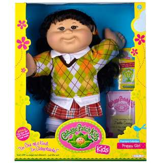Cabbage Patch Kids Doll   Black Hair   Preppy   Jakks Pacific 1001196