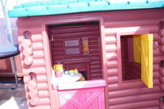 Little Tikes Playhouse Log Cabin House + Extras Incl Toaster, Kettle
