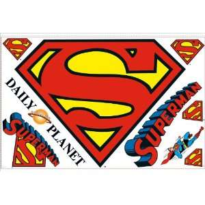 RoomMates RMK1462SLM Superman Logo Peel & Stick Giant Wall