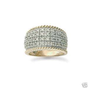 9ct Gold 1ct Diamond Pave Ring