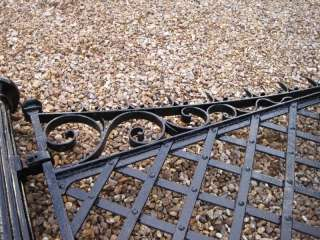 Pair of Antique Cast and Wrought Iron Gates with Posts,posts,wrought