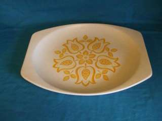 Meakin Maidstone Tulip Time Oval Meat Platter Yellow jnb