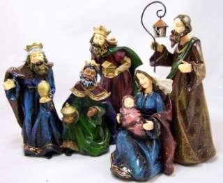 Piece Large Church Christmas Nativity Set Holy Jesus
