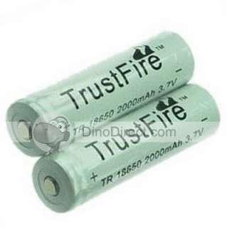 Wholesale TrustFire 18650 Lithium Battery 2000mAh 3.7V 2 Pcs
