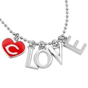 MLB Touch by Alyssa Milano Cincinnati Reds Love Necklace with Heart