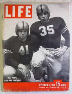 1946 September 16 LIFE Magazine   WEST POINT FOOTBALL