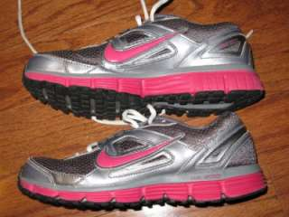 NIKE DUAL FUSION ST WOMENS RUNNING SHOES TRAINING DARK GRAY PINK 2010