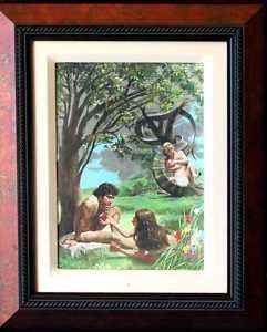 Religious Pastor RARE ART Gift! Adam & Eve Temptation