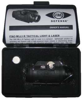NEW iTAC TACTICAL LIGHT with LASER for PISTOL or RIFLE PICATINNY RAIL