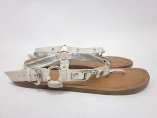 You are bidding on JESSICA SIMPSON White Leather Buckle Sandals size 8