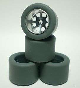 24 URETHANE SLOT CAR TIRES 2pr fit H&R & Pro Track 0.65 O.D. Wheels