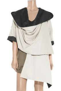 Diane von Furstenberg Athena draped cotton twill coat   65% Off Now at