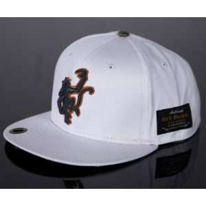 Red Monkey Mens CC Trucker Hat with Flat Bill in White/Green