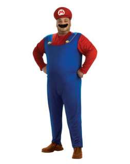 buttons, a red Mario cap, inflatable belly and a black moustache
